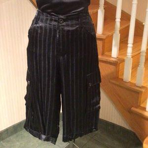 Black Bermuda shorts light weight satin material